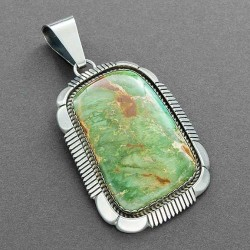 Special price gallery large navajo pendant set with green turquoise aloadofball Image collections