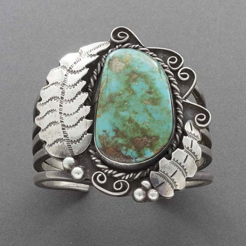 1960 s Navajo Bracelet of Natural Royston Turquoise