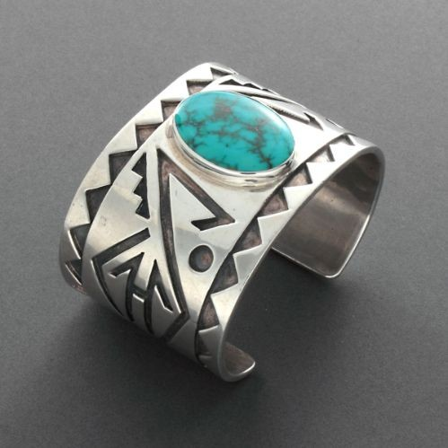 Blue Gem Overlay Bracelet