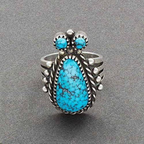 Mike Bird Romero Ring of Turquoise Bug