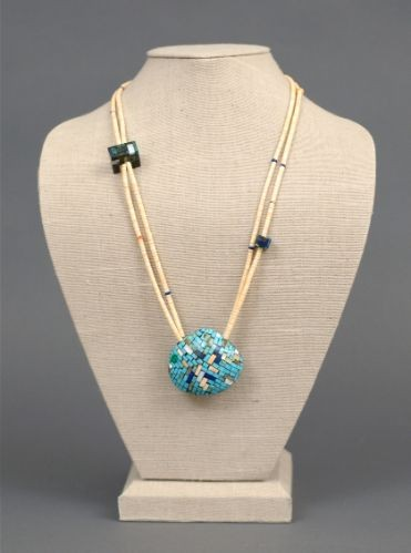 Charlene Reano Necklace of Mosaic Inlay
