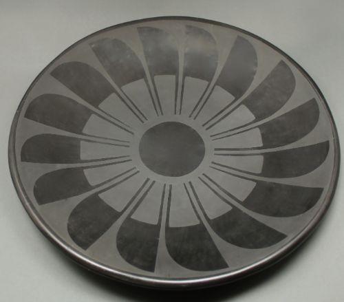 Tonita Roybal Black Featherplate