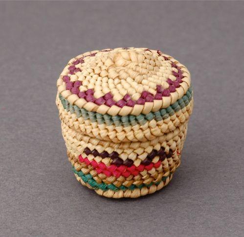 Miniature Makah Lidded Basket