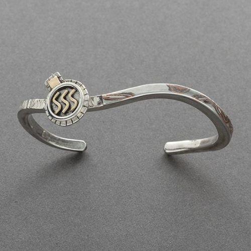 Charlyn Reano Narrow Bracelet of Mokume Gane
