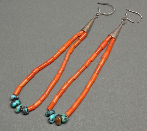 Old Coral Jacla Earrings