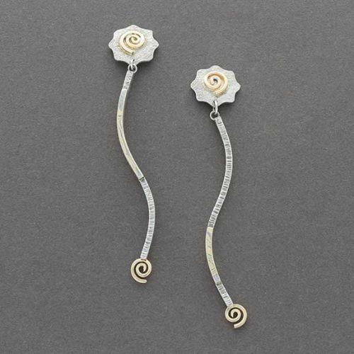 Mokume-Gane Earrings Charlyn Reano