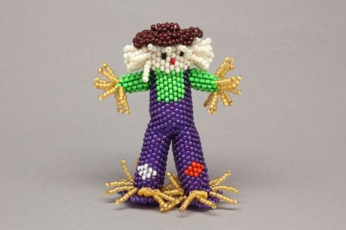 Beaded Scarecrow by Lorena Laahty of Zuni