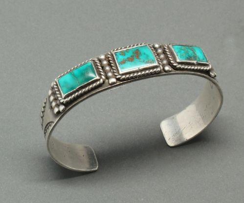Three Stone Blue Gem Bracelet