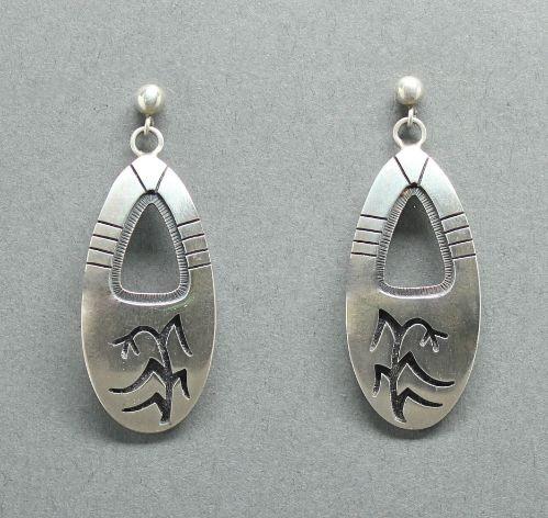 Hopi Overlay Dangle Corn Plant Earrings