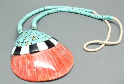 Tony Aguilar Family Shell Inlay Necklace
