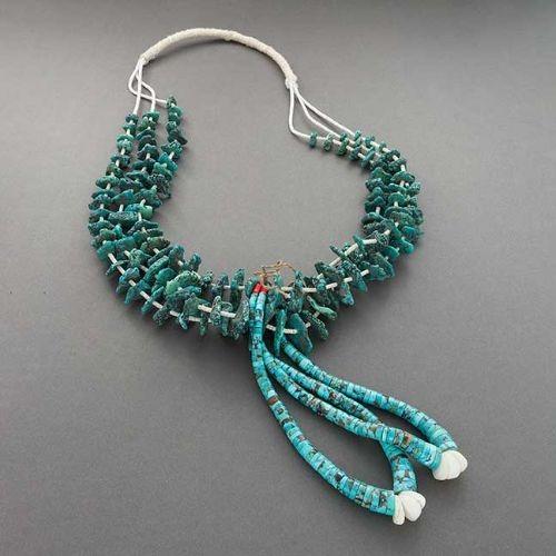 Pueblo Necklace of Turquoise Tony Aguilar