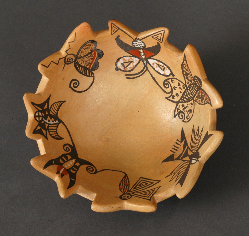 Bowl with Birds and Butterflies by Darlene Nampeyo