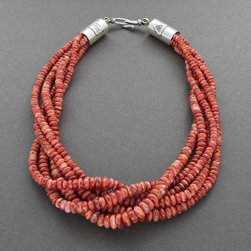 Alfred Lee Necklace of Red Spiny Oyster