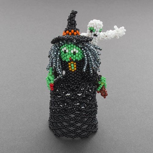 Zuni Beaded Witch with Ghost by Lorena Laahty