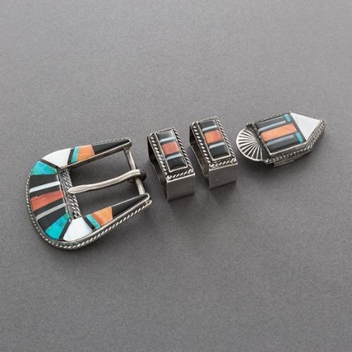 Old Zuni Ranger Buckle Set of Inlay