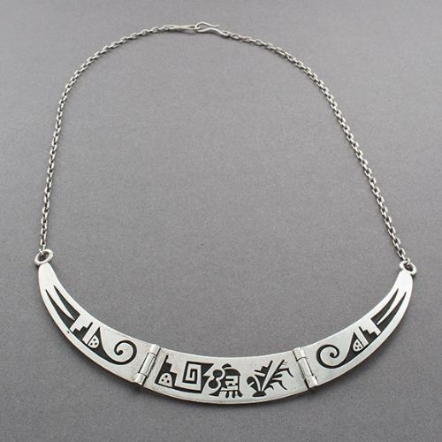 Silver Overlay Segment Necklace