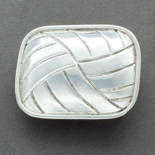 Harvey Begay Silver Buckle of Hollow Form Silver