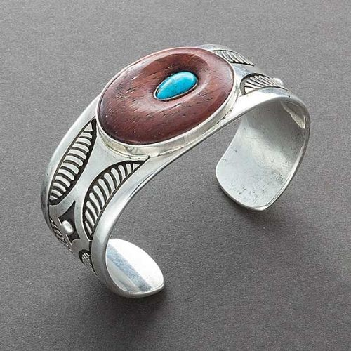 George Kee Bracelet of Silver with Ironwood