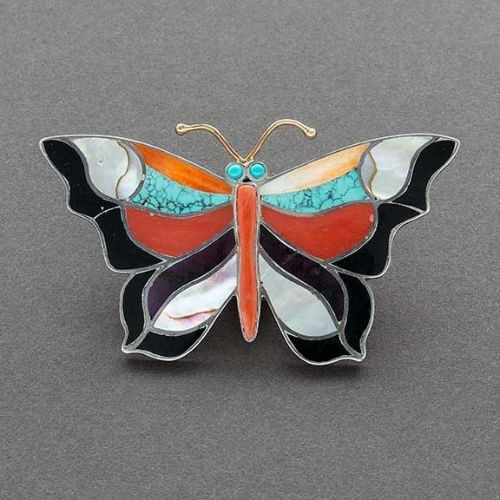 Christina Eustace Inlay Butterfly Pin
