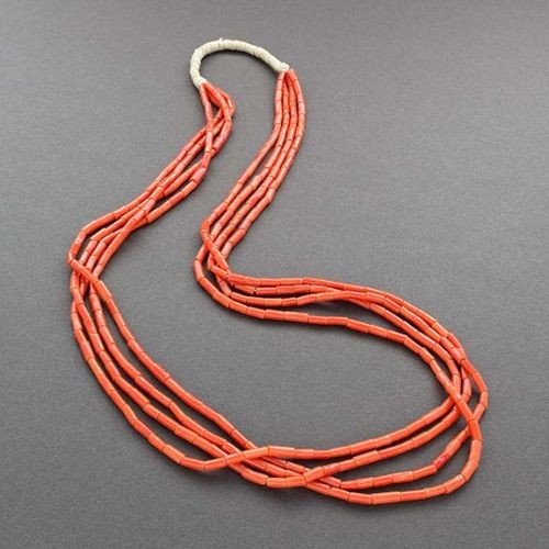 Old Natural Coral Necklace From Native Wrap