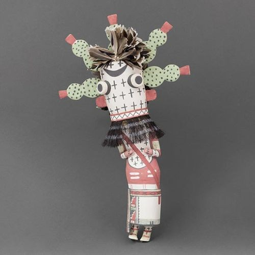 Hopi Kachina of Prickly Pear Cactus by Clark Tenakhongva