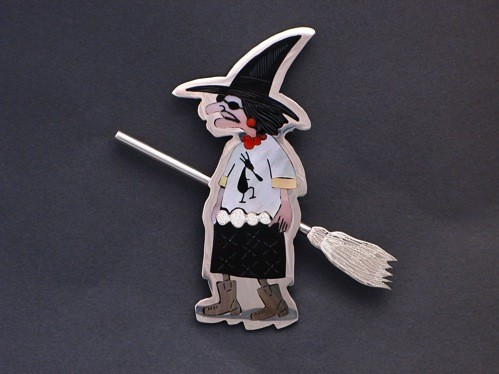 Dale Edaakie Pin of Inlaid Witch