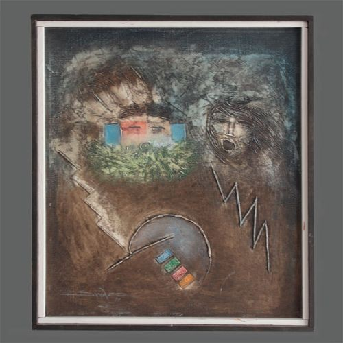 Patrick Swazo Hinds Painting Among the Gods