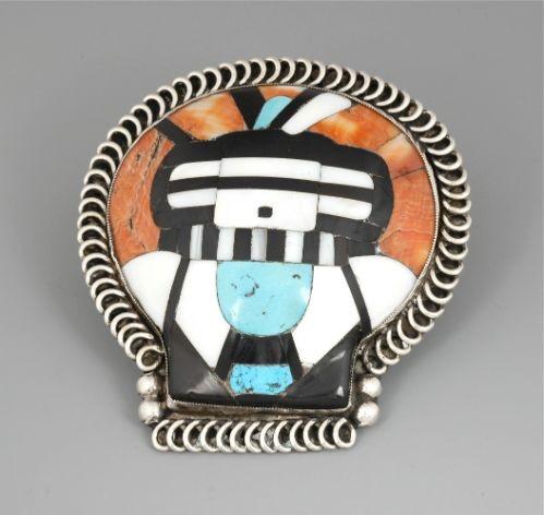 Outstanding Zuni Shell Katsina Pin