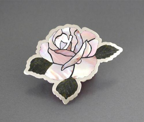 Dale Edaakie Pink Rose Pin