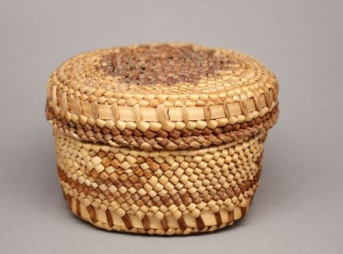 Miniature Basket With Lid By HoH Tribe