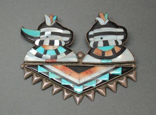 Double Katsina Pin Attributed to Leo Poblano