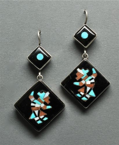 Zuni Rainbowman Dangle Earrings