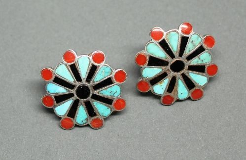 Frank Vacit Channel Inlay Earrings