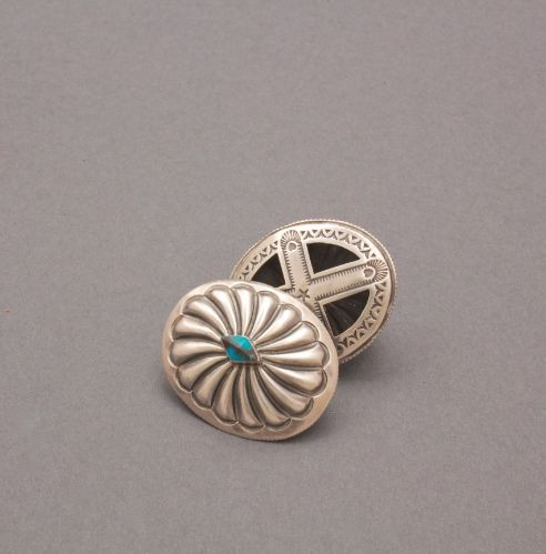 Joseph Rosetta Double Sided Earrings with Turquoise