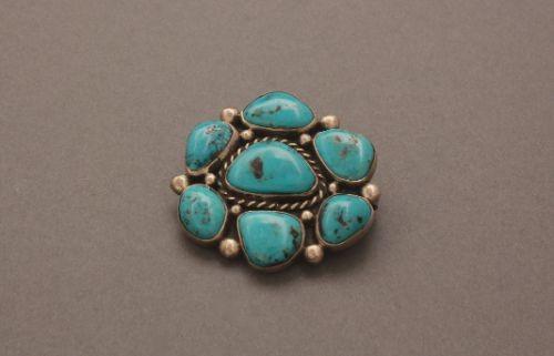 Julian Lovato Pin Pendant of Turquoise