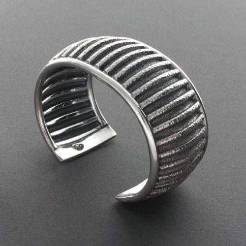 Bryan Joe Silver Corrugated Bracelet