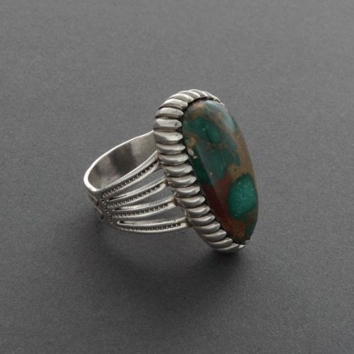 Calvin Martinez Ring of Green Turquoise