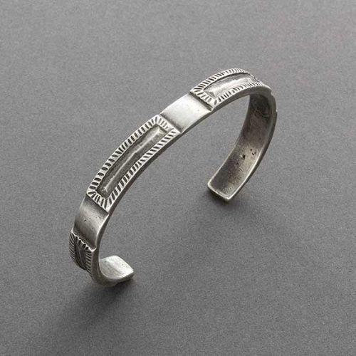 Narrow Coin Silver Bracelet by Olin Tsingine