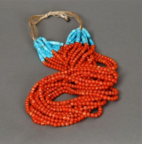 Tony Aguilar Coral Bead Necklace 12 Strands