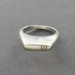 Sculptural Ring of Silver