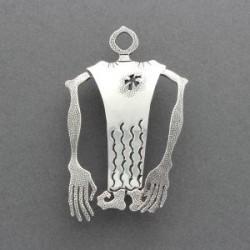 Darrell Jumbo Silver Pin of Humanoid