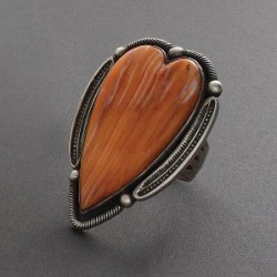 Large Heart Ring by Harry H. Begay Spondylus