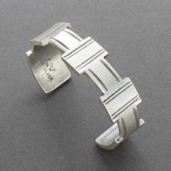 Mike Bird Romero Bracelet of Silver Pueblo Style