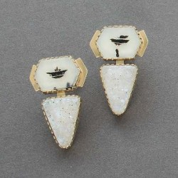 Gail Bird and Yazzie Johnson Earrings of Quartz