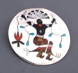 Zuni Fire Dancer Pin