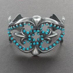 Zuni Bracelet with Snake Eye Turquoise