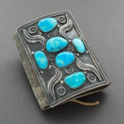 Large Navajo Bowguard or Ketoh With Turquoise