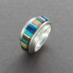 Charles Loloma Silver Ring with Outside Inlay.jpg