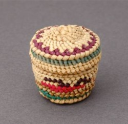 Miniature Makah Lidded Basket
