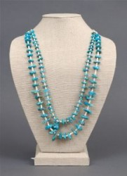Blue Gem Turquoise Nugget Necklace
